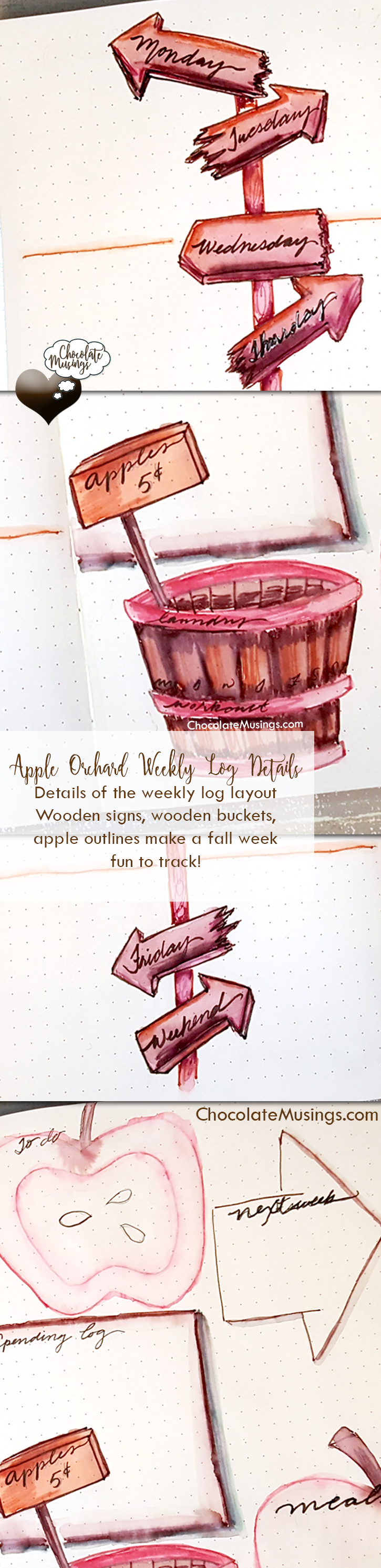 Apple Orchard/Wooden Directional Sign Weekly Spread