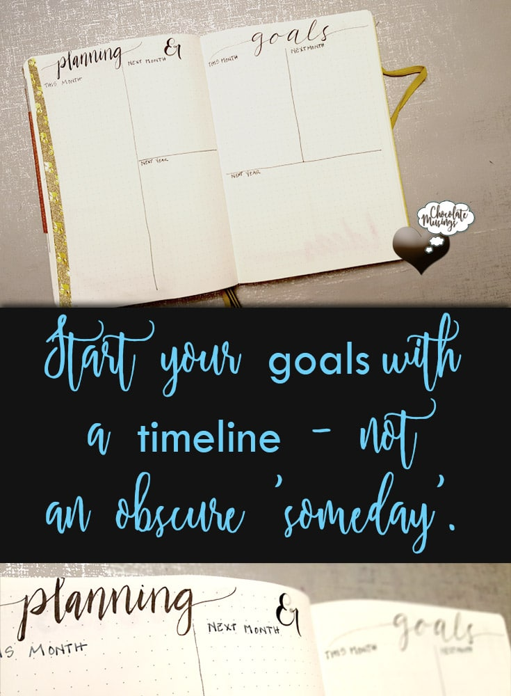 Use the quiet spaces in the month to plan ahead and define your goal timelines | Start your goals with a timeline, not an obscure 'someday'