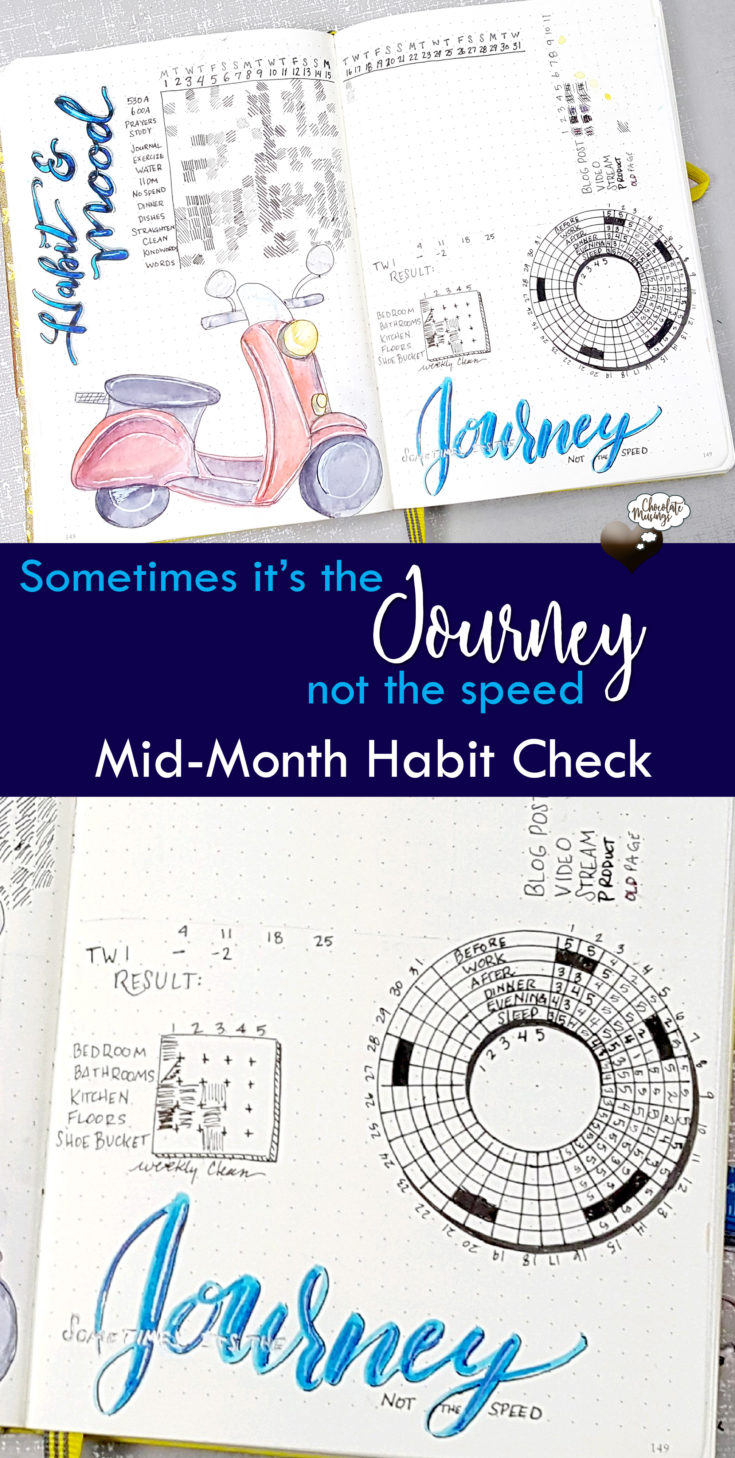 creating habits, mid-month habit check, sometimes it's the journey not the speed
