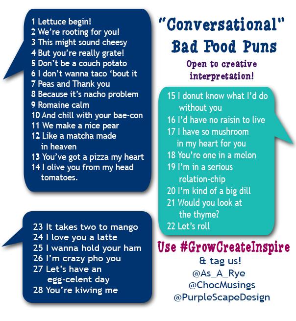 "2018 February Challenge - ""Conversational Food Puns"""