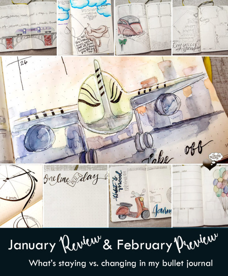 January Review - Whats Changing in my Bullet Journal next month