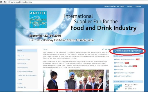 FoodTech India homepage