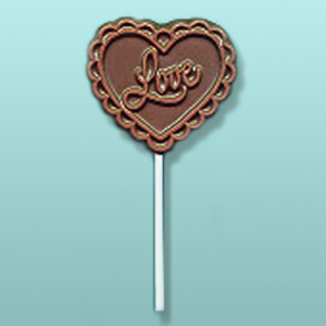 Chocolate Lacy Love Heart Favor