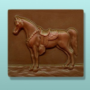 Chocolate Horse I Plaque