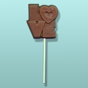 Chocolate Love Block Lolly Favor
