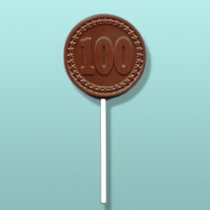 Chocolate Number 100 Round Party Favor