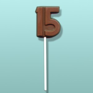 Chocolate Number 15 Party Favor