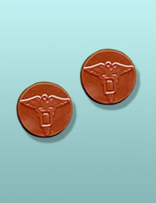 2 pc. Chocolate Caduceus Favor