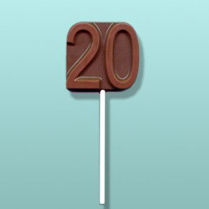 Chocolate Number 20 Party Favor