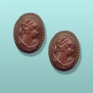 2 pc. Chocolate Cameo Mini Favor