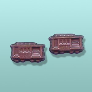 2 pc. Chocolate Trolley Mini Favor