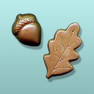 Chocolate Acorn Oak Leaf Favor
