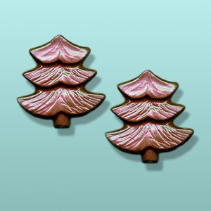 2 pc. Chocolate Evergreen Tree Favor