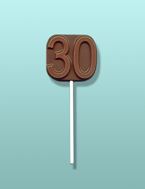 Chocolate Number 30 Party Favor