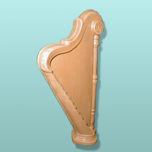 3D Chocolate Harp Musical Instrument