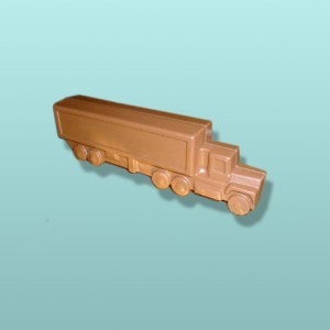 3D Chocolate Tractor Trailer Truck - Medium