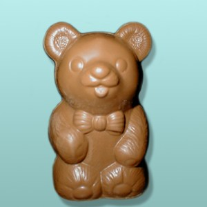 3D Chocolate Bow Tie Teddy Bear