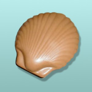 3D Chocolate Clam Shell - X-Large