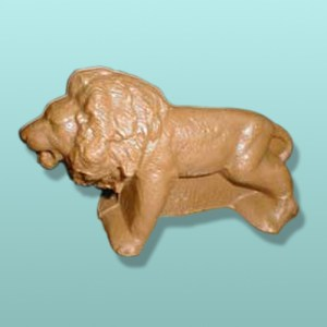 3D Solid Chocolate Roaring Lion