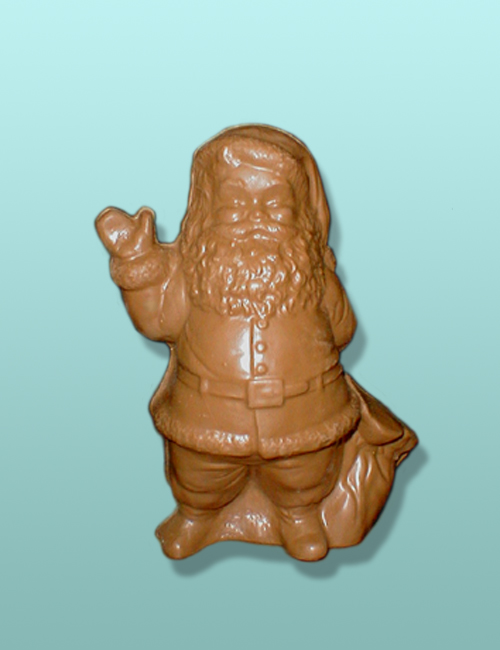 3D Solid Chocolate Santa