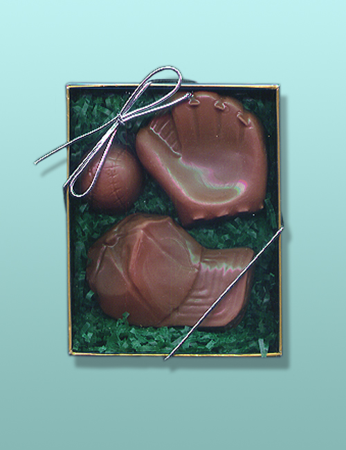 3 pc. Chocolate Baseball Gift Set