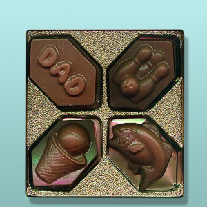 4 pc. Chocolate Sports Gift Set