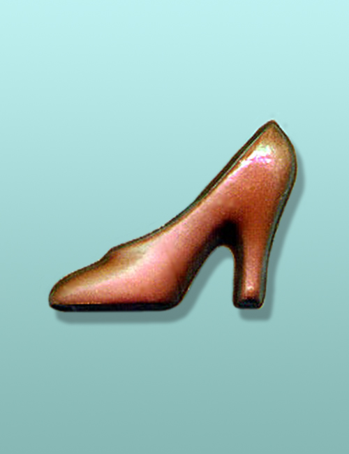 Chocolate High Heeled 3D Shoe Favor