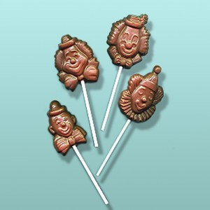 Chocolate Clown Lolly Assortment