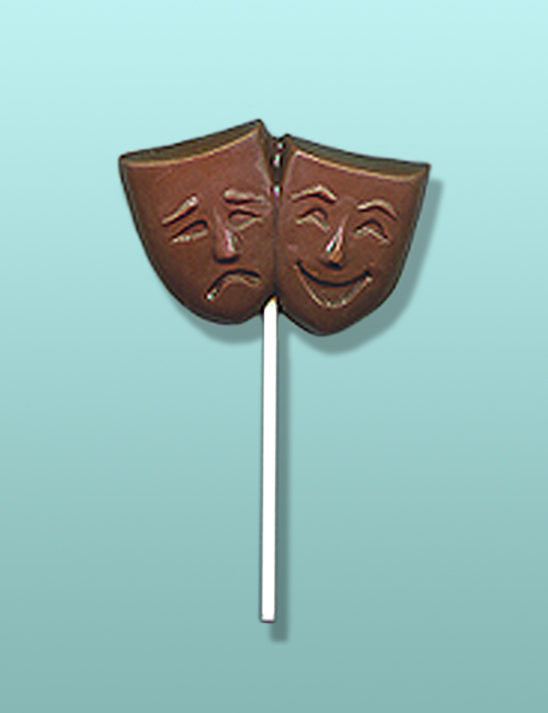 Chocolate Comedy Tragedy Mask Lolly