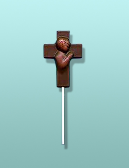 Praying Boy Chocolate Cross Lolly