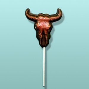 Chocolate Desert Steer Skull Lolly