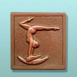 Chocolate Lady Gymnast Large Plaque
