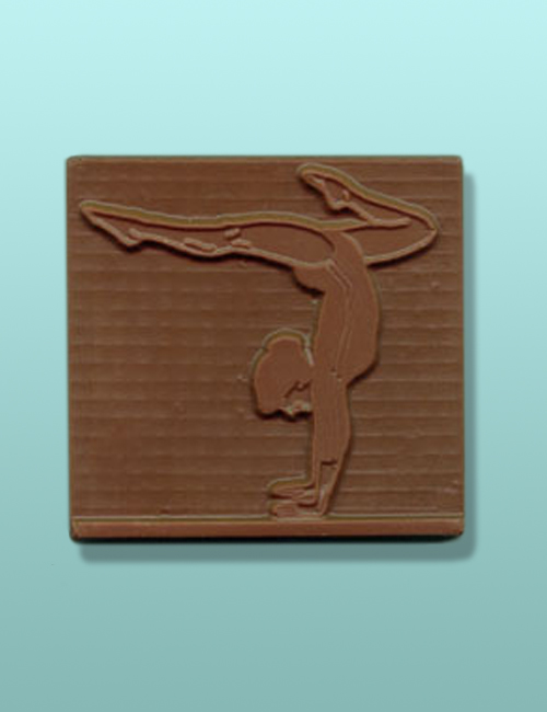 Chocolate Lady Gymnast Small Plaque