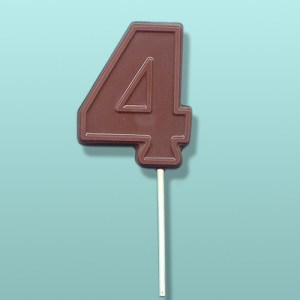 Chocolate Number 4 Party Favor
