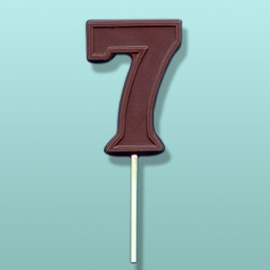 Chocolate Number 7 Party Favor