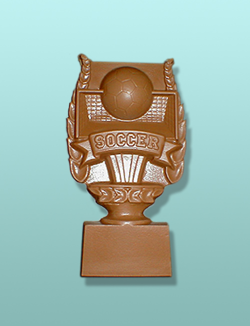 Chocolate Soccer Trophy Plaque