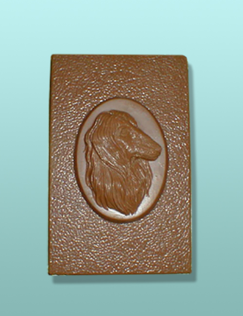 Chocolate Afghan Dog Flat Plaque