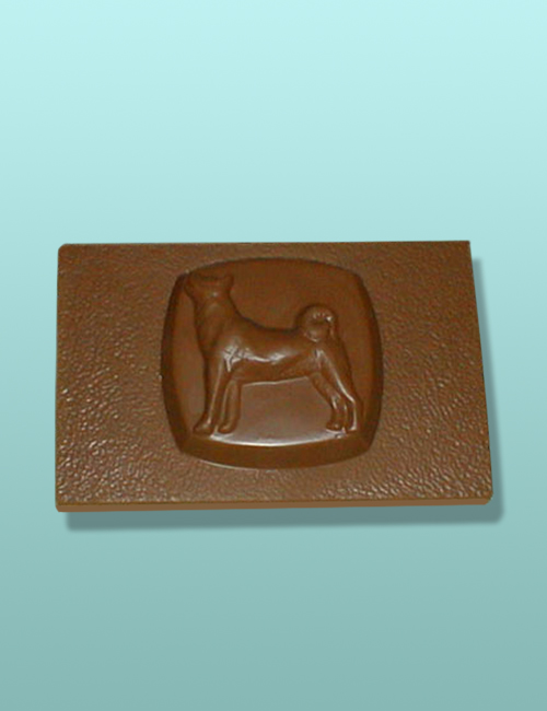 Chocolate Akita Dog Flat Plaque