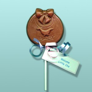 Chocolate Baby Bib Party Favor