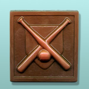 Chocolate Crossed Bats Plaque