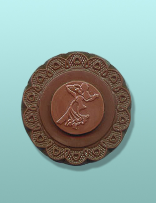 Chocolate Ballroom Medallion Party Favor