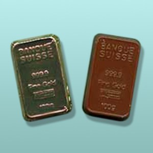 Chocolate Banque Suisse Gold Bar Favor