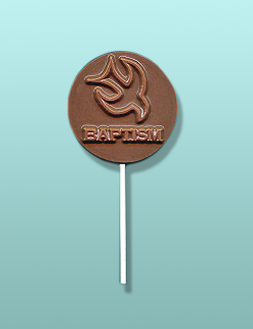 Chocolate Holy Spirit Baptismal Lolly