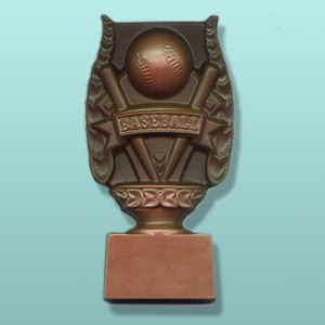 Chocolate Baseball Trophy Plaque