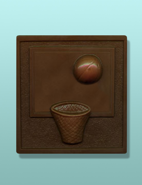 Chocolate Basketball Plaque