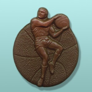 Chocolate Rebounding Basketball Player
