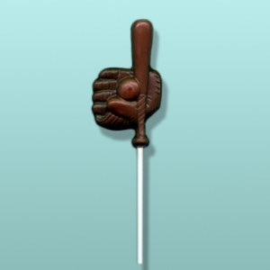 Chocolate Baseball Bat & Mitt Lolly Favor