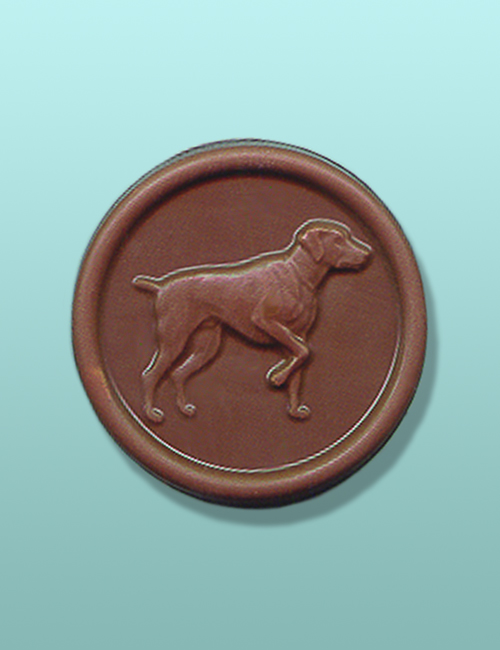 Chocolate Bird Dog Medallion Favor