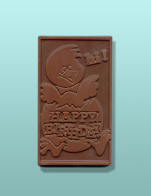Chocolate Hatching Happy Birthday Card
