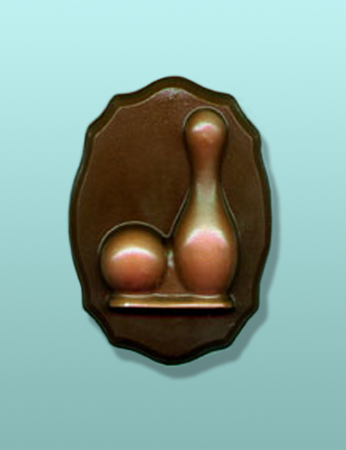 Chocolate Bowling Ball and Pin Plaque